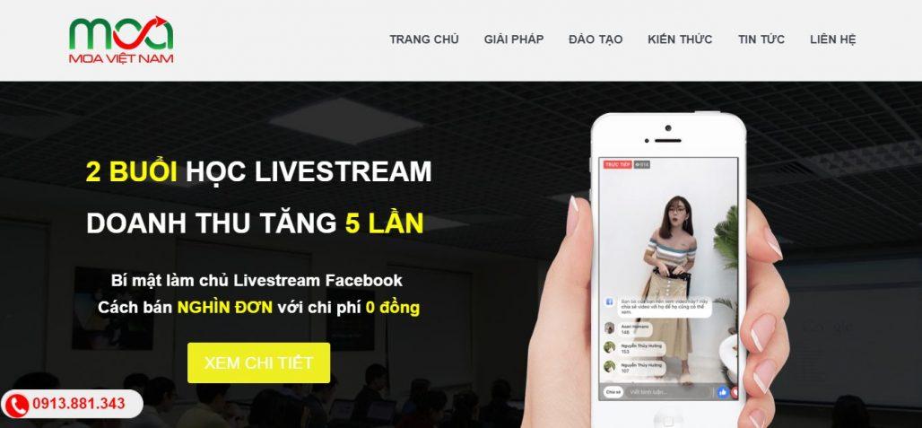 Công ty đào tạo bán hàng livestream học viện MOA VIỆT NAM