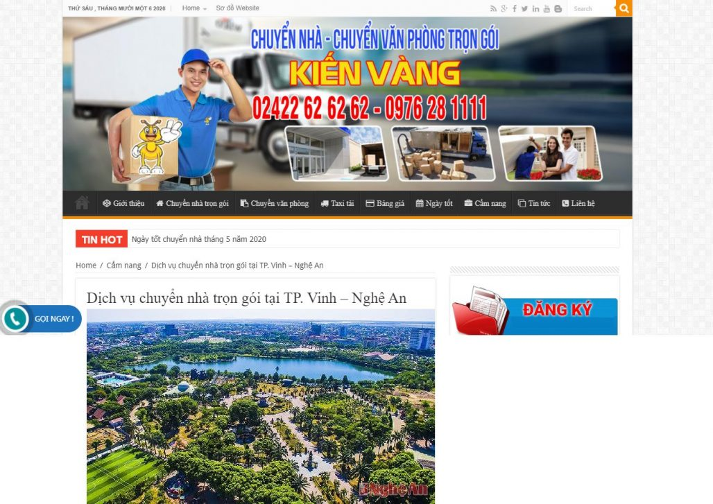 Công ty chuyển nhà trọn gói Kiến vàng TP Vinh