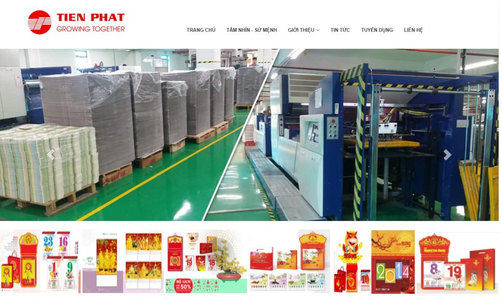 Công ty in lịch tết Phú Đại Thành