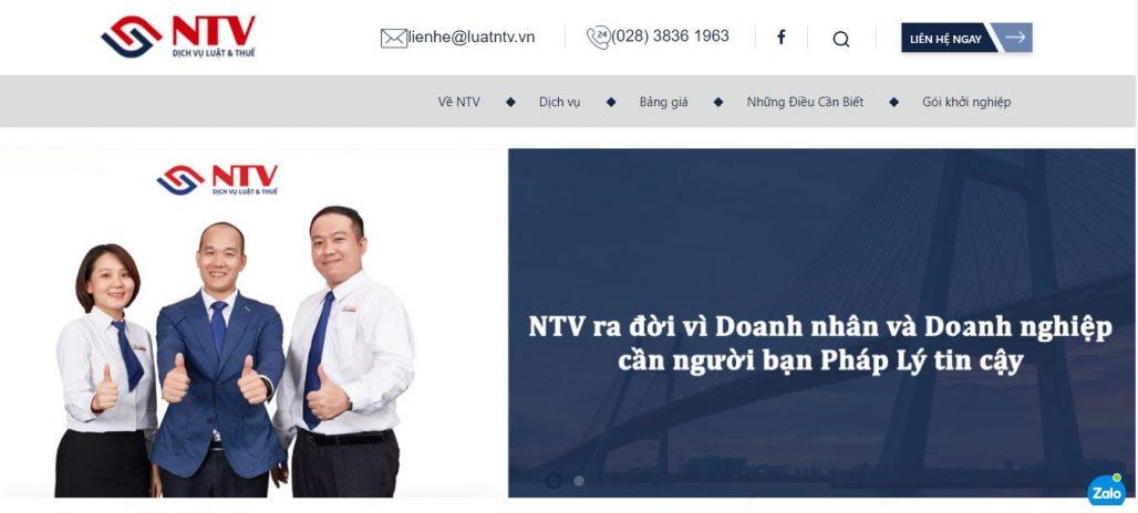 Dịch vụ thành lập công ty Luật NTV
