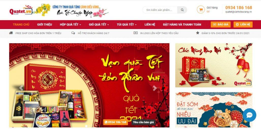 Công ty cung cấp giỏ quà tết cho doanh nghiệp Cánh Diều Vàng