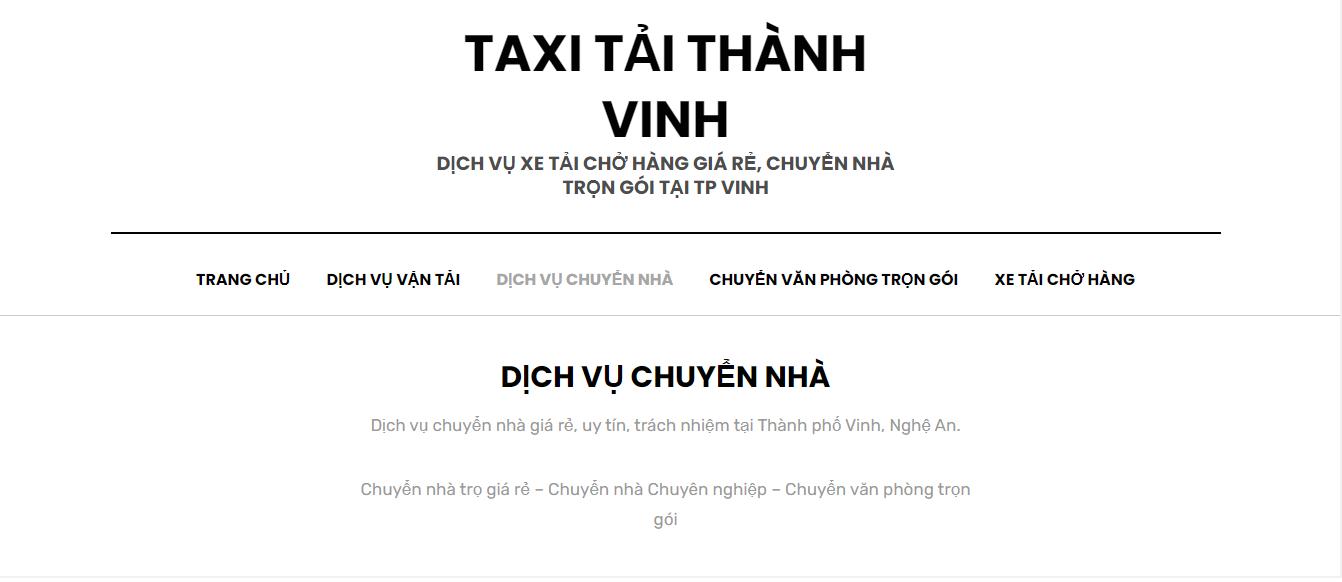 Công Ty taxi tải chuyển nhà THÀNH VINH