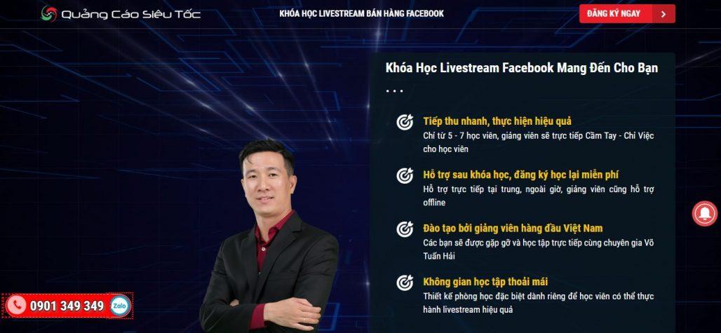 Công ty đào tạo bán hàng livestream QUẢNG CÁO SIÊU TỐC
