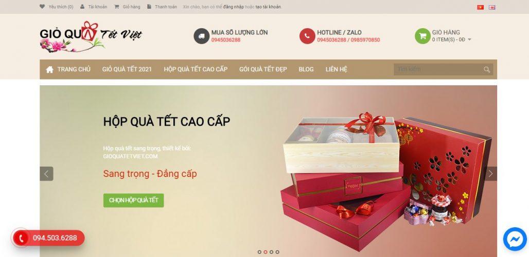 Công ty cung cấp quà tết cho nhân viên Giỏ quà Tết Việt