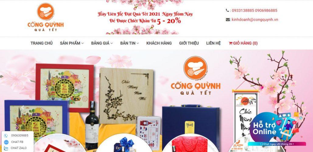 Công ty cung cấp quà tết cho nhân viên Quà Tết Cống Quỳnh
