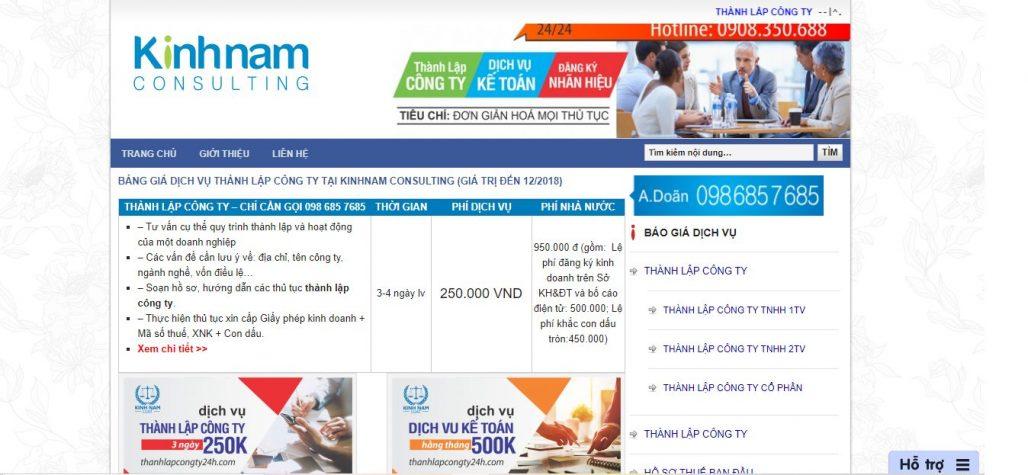 Dịch vụ thành lập công ty Kinh Nam Consulting
