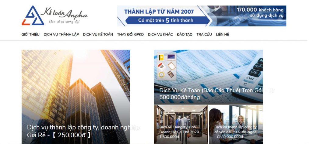 Dịch vụ thành lập công ty - Kế toán Anpha