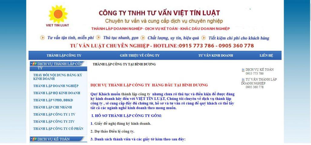 Dịch vụ thành lập công ty  VIỆT TÍN LUẬT