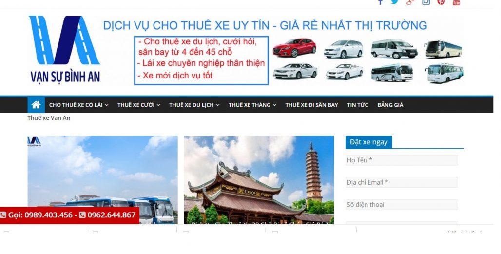 Công ty dịch vụ thuê xe ô tô Vạn An