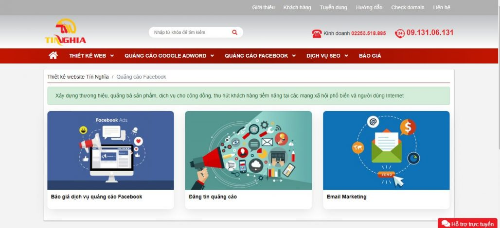 Công ty chạy quảng cáo Facebook Tín Nghĩa