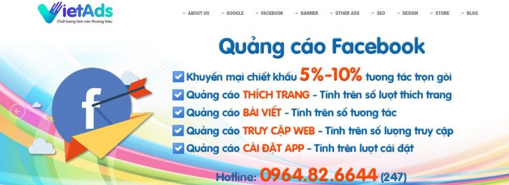 Dịch vụ chạy quảng cáo Facebook Việt Ads