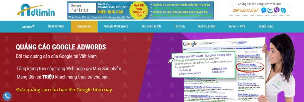 Công ty chạy quảng cáo Google Adwords Adtimin