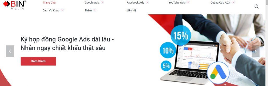 Công ty chạy quảng cáo Google Adwords Bin Media