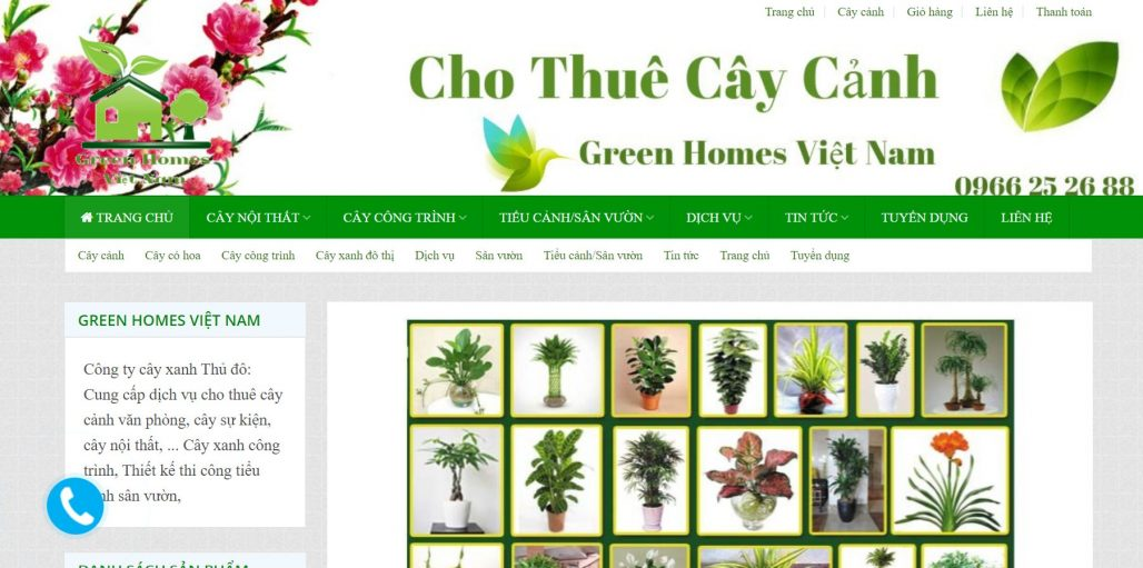 Công ty cho thuê đào chơi tết Green Homes