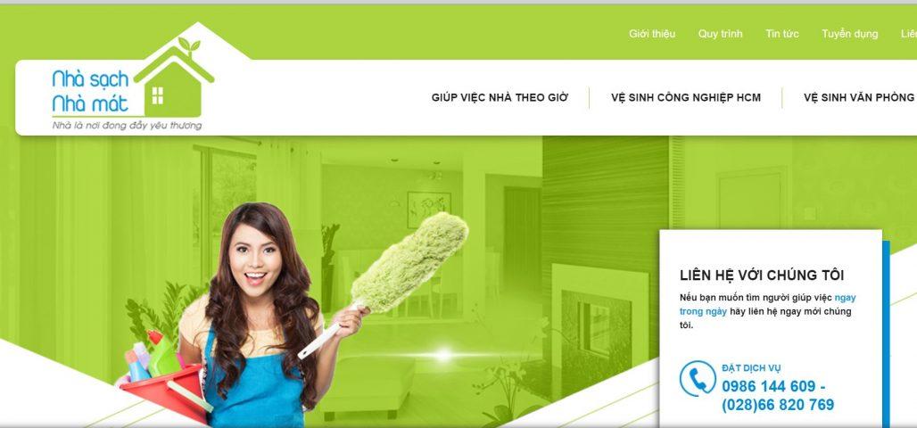 Công ty giúp việc tại nhà theo giờ Nhà sạch nhà mát