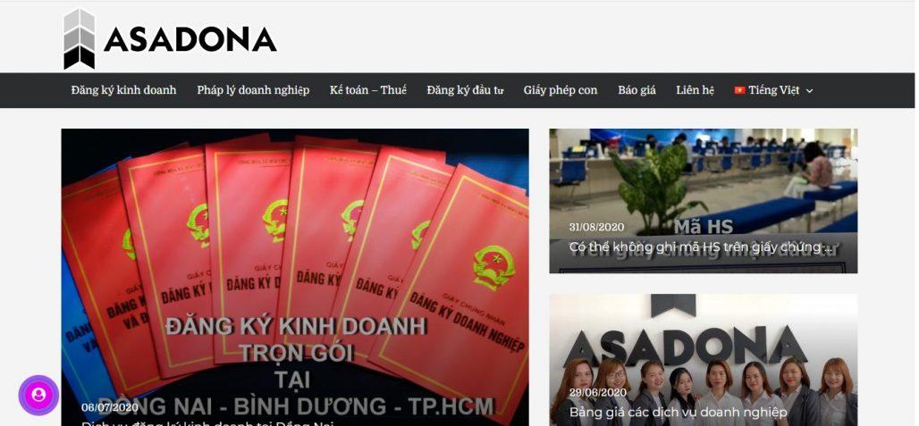 Dịch vụ thành lập công ty Asadona