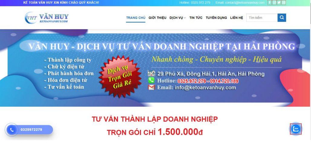 Dịch vụ thành lập công ty - KẾ TOÁN VĂN HUY