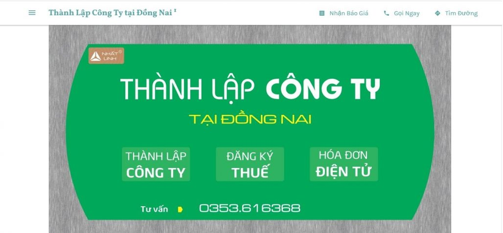 Dịch vụ thành lập công ty Nhất Linh