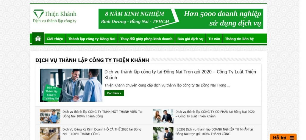 Dịch vụ thành lập công ty Thiện Khánh