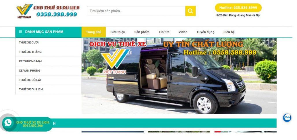 Công ty thuê xe du lịch Việt Thanh