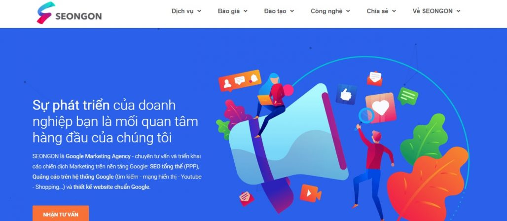 Công ty chạy quảng cáo Google Adwords SEONGON