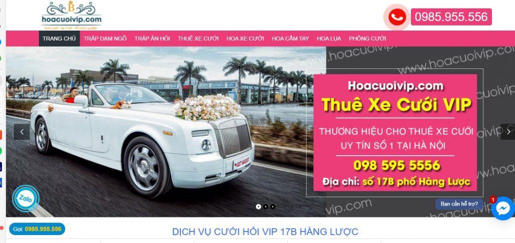 Công ty thuê xe du lịch Việt Cường-Hoa Cưới Vip
