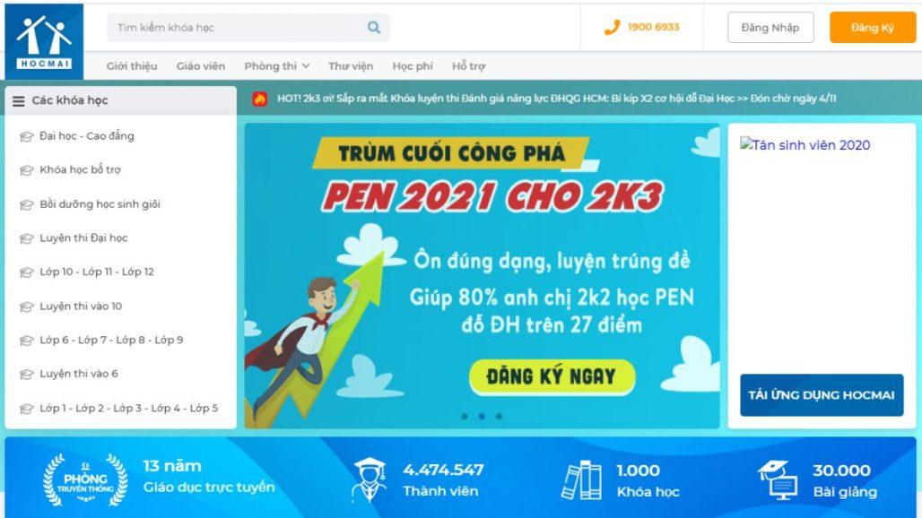 Top 10 website khóa học online uy tín tại Việt Nam 2021