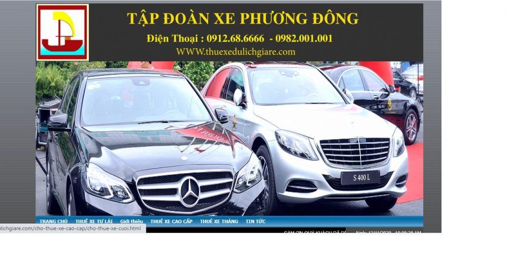 Công ty dịch vụ thuê xe Phương Đông