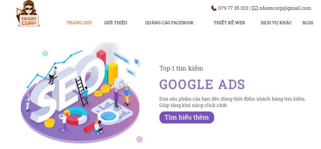 Công ty chạy quảng cáo Google Adwords NhomCorp