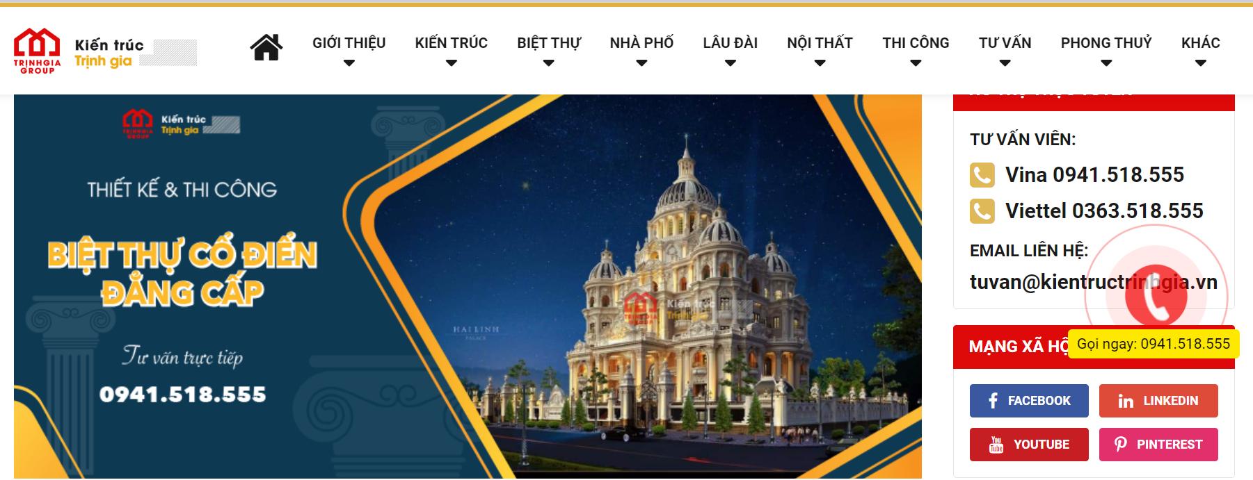 Công ty thiết kế nhà Trịnh gia