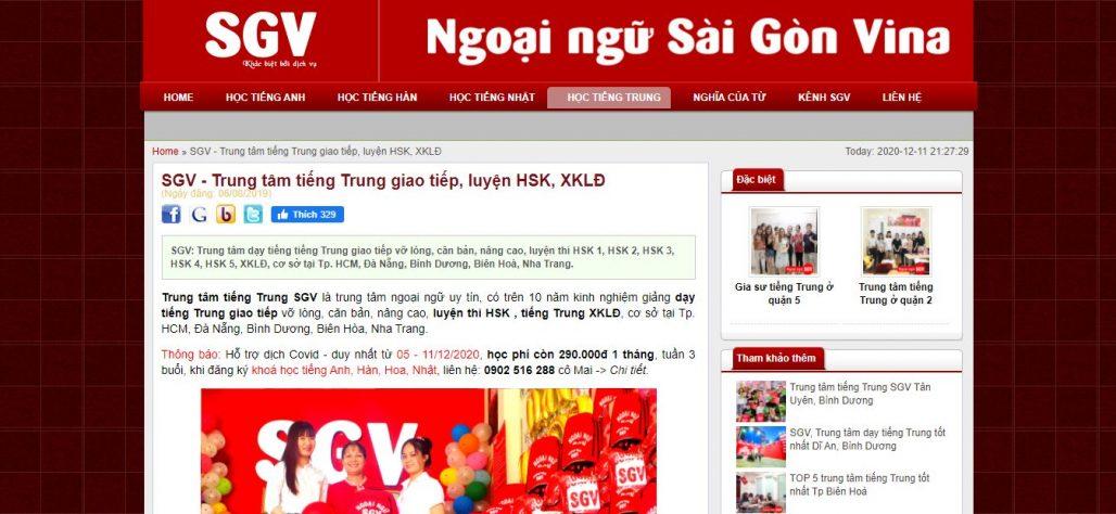 Trung tâm tiếng Trung - Ngoại ngữ Sài Gòn Vina CN Cần Thơ