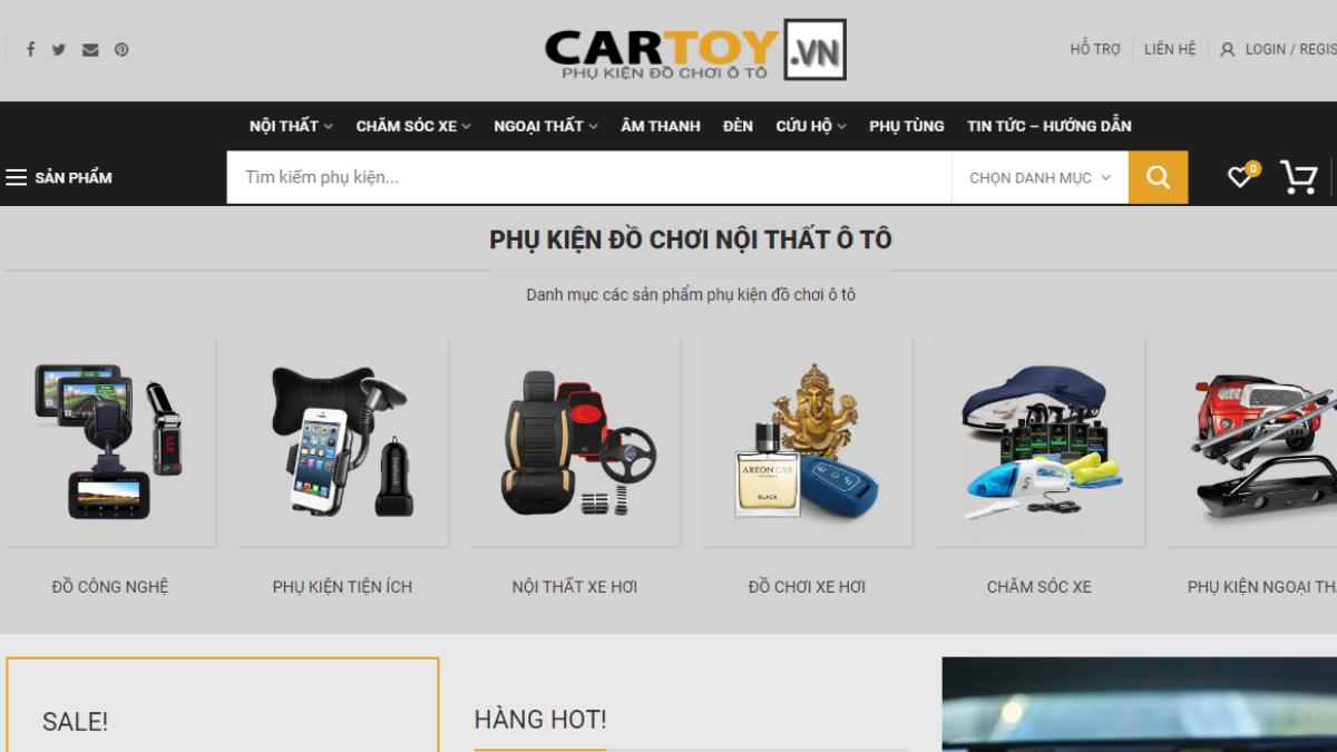 Công ty phụ kiện đồ chơi dành cho ô tô Cartoy.vn