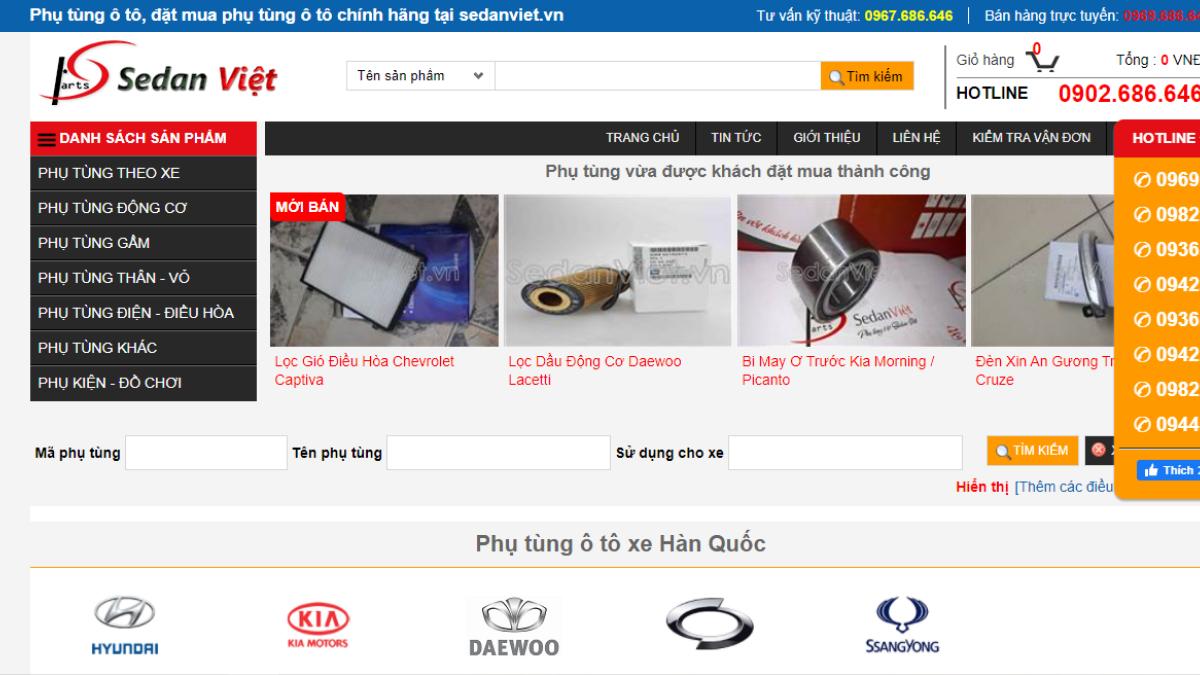 Công ty phụ tùng - phụ kiện - đồ chơi ô tô SEDAN VIỆT