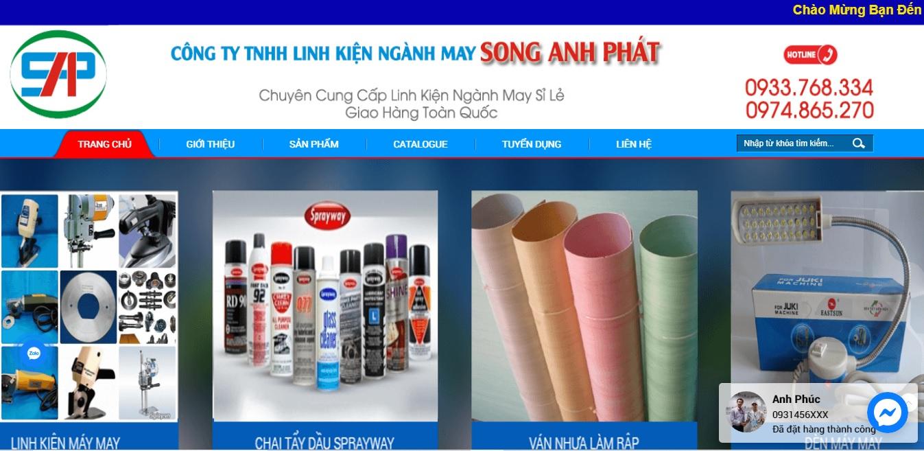 Công ty cung cấp máy móc ngành may Song Phát