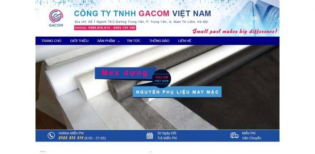 Công ty cung cấp vải và phụ liệu may mặc Gacom Interlining