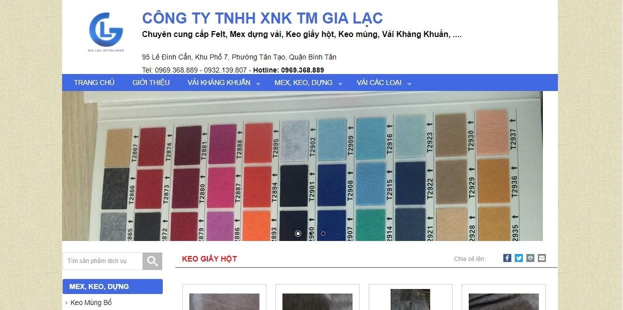 Công ty cung cấp vải và phụ liệu may mặc Gia Lạc