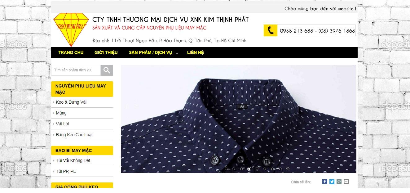 Công ty cung cấp vải và phụ liệu may mặc Kim Thịnh Phát