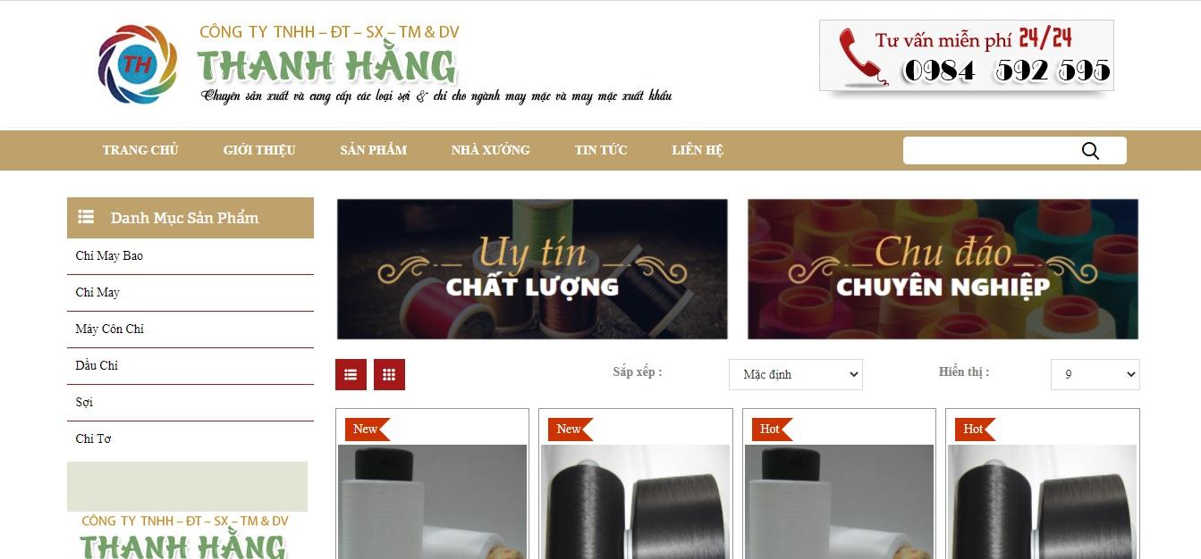 Công ty cung cấp vải và phụ liệu may mặc Thanh Hằng