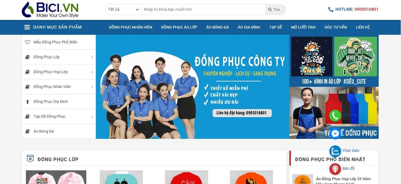 Công ty may mặc - Công ty TNHH BiCi Center