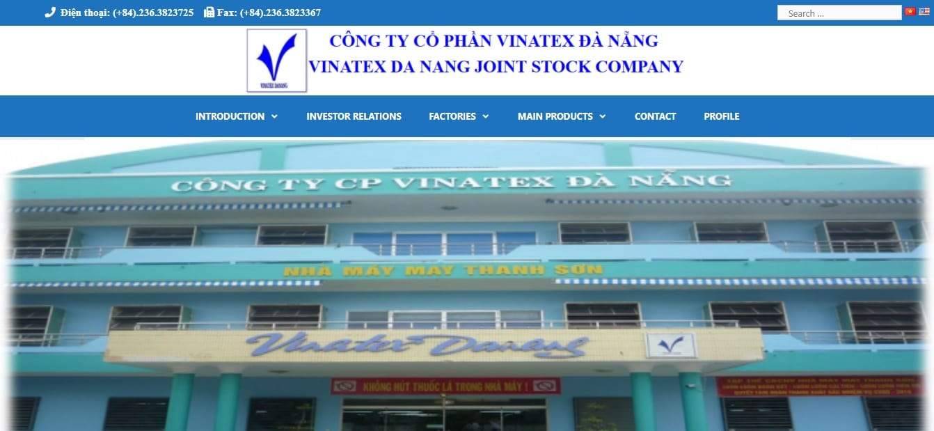 Công ty may mặc - cong ty CP Vinatex Đà Nẵng