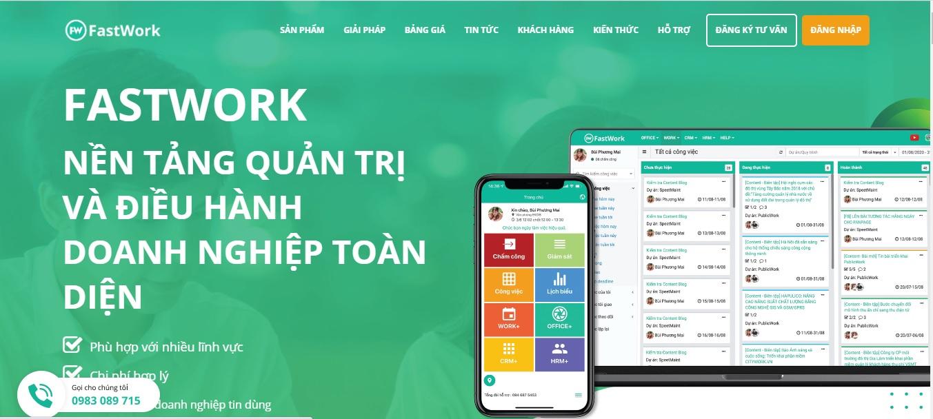 Công ty phần mềm CRM - FastWork Việt Nam
