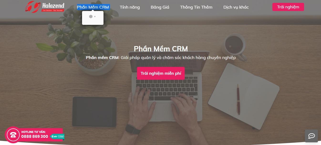 Công ty phần mềm CRM - Halozend