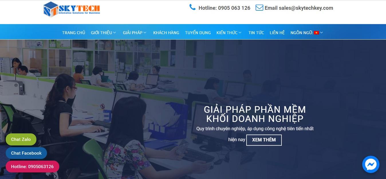 Công ty phần mềm CRM - Skytech