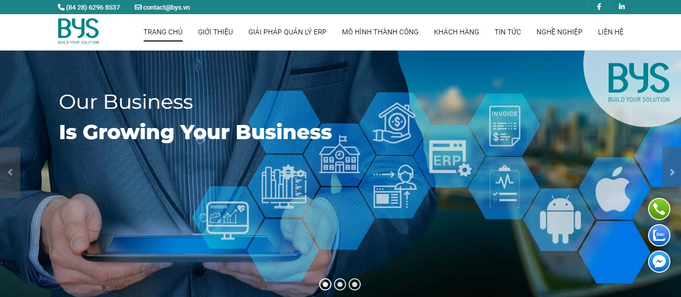 Công ty phần mềm ERP - BYS