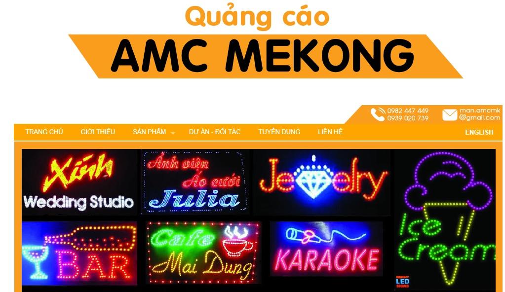 Công ty thi công bảng hiệu quảng cáo AMC Mekong
