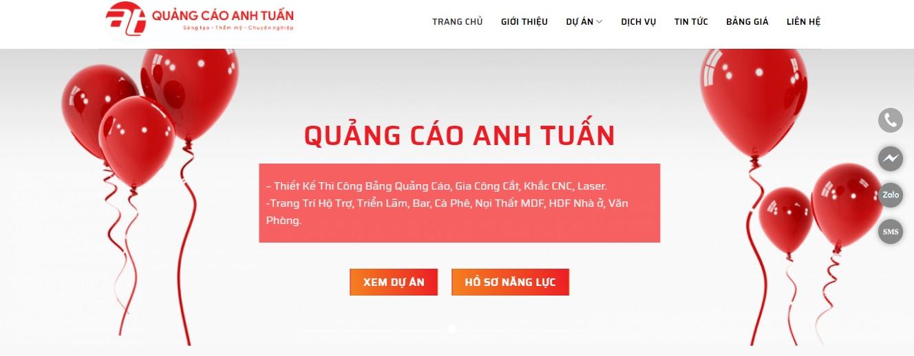 Công ty thi công bảng hiệu quảng cáo Anh Tuấn