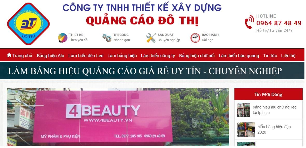 Công ty thi công bảng hiệu quảng cáo Đô Thị