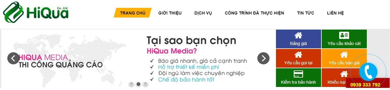 Công ty thi công bảng hiệu quảng cáo HiQua