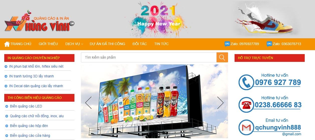 Công ty thi công bảng hiệu quảng cáo Hùng Vinh