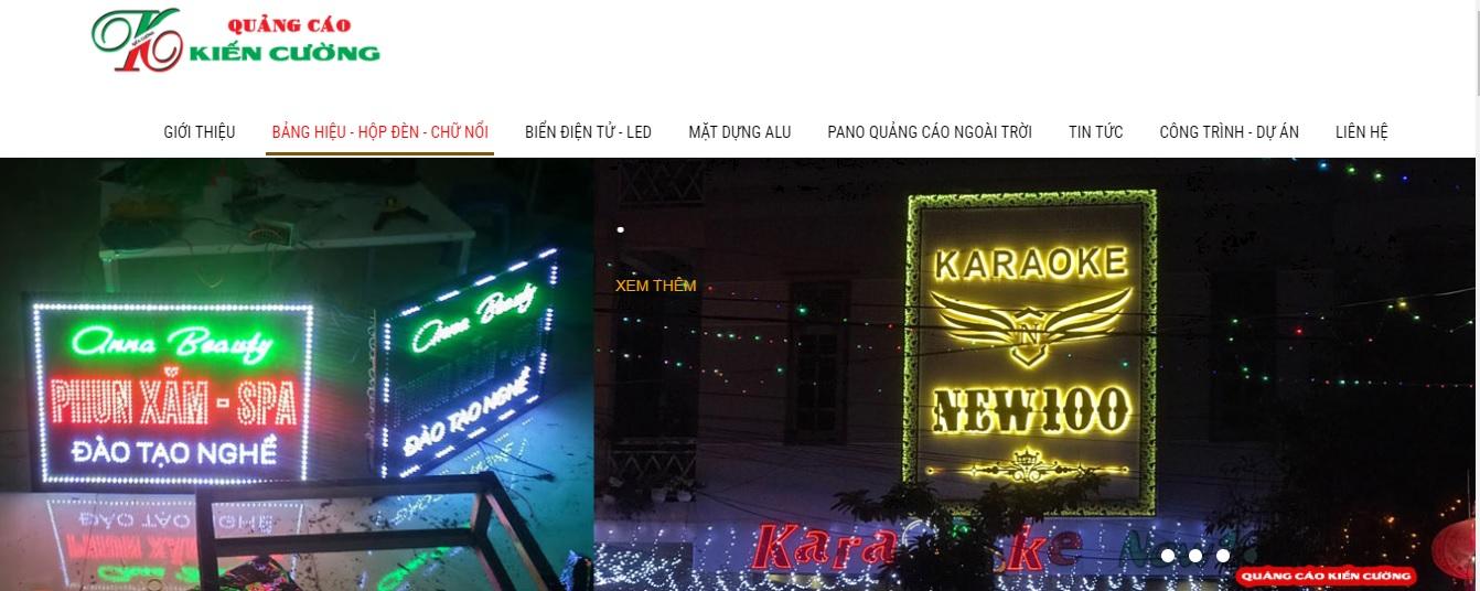 Công ty thi công bảng hiệu quảng cáo Kiến Cường
